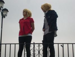 Rin y Len cosplay shoratime by Shoratime-vocaloid