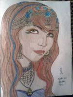 Emilette Belly Dancer Portrait by Lolita-Ragdoll