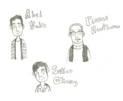 Community: Abed, Pierce, Chang by TurboTony00