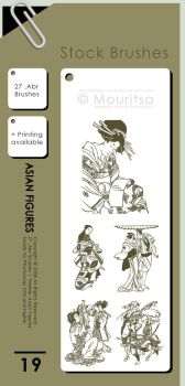 Brush Pack - Asian Figures by MouritsaDA-Stock