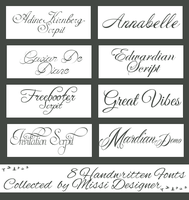 Handwritten fonts collected by MissiDesigner by MissiDesigner