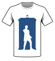 TARDIS And 12TH Doctor Design On T-shirt Template by CreativeDyslexic
