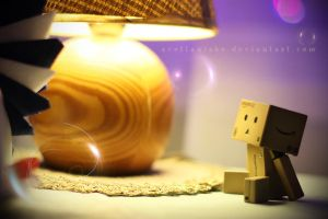 Danbo in cafe by lightlanaskywalker