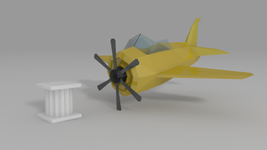 Low Poly Asset #1: Air Plane by ImadEdd