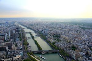 View of Paris from Tour Eiffel by xiadoraath724