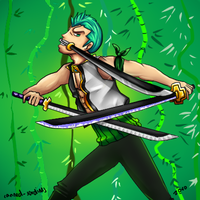 Zoro one piece commission by canned-sardines