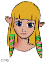 Nightly Sketchcrap - Skyward Sword Zelda by Sylverstone14