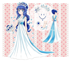 Custom outfit wedding dress - Commission by chikorita85