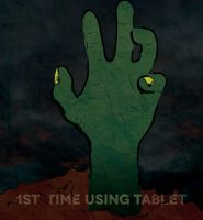 1st Time Using Tablet Zombie Hand by smcveigh92