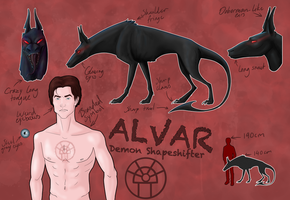 Alvar's Slightly More Detailed Reference Sheet by VikingProgenitor