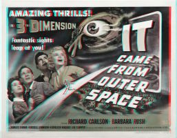 It Came From Outer Space poster 3-D conversion by MVRamsey