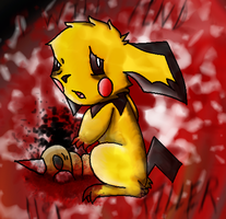 pichu is sad... by Painted1994