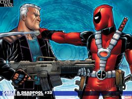 Cable and Deadpool 32 by StupidTurtle23