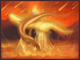 Dragon elements Lake of fire by Destinyfall
