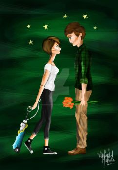Hazel Grace and Gus Waters~ by abbeygoescrayons