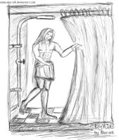 Sketches - Shower Sephy 2 by Miarath