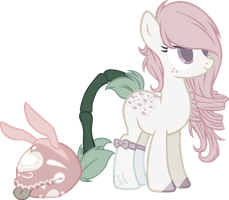 Blind Bunny plant pony -CLOSED- by mondobutt