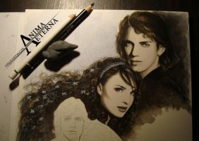 Anakin and Padme (And Luke) - WIP by AnimaEterna
