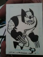 Wolvie sketch card by madtiki