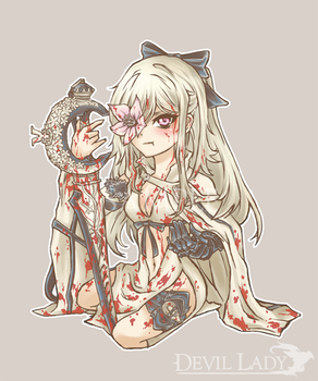 000 CHIBI Commission - Zero from Drakengard 3 by devilladyart
