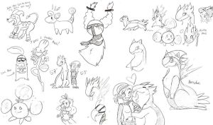 Poke'mon Sketches 3 by BBH
