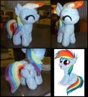 MLP: Rainbow Dash Filly Plush by ChibiTigre