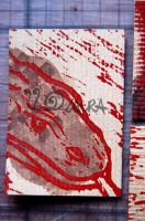 Komodo Dragon colour ATC by lonesomeaesthetic