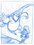 Herobear and the Kid sketch by tombancroft
