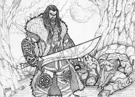 Thorin Oakenshield by vandalocomics