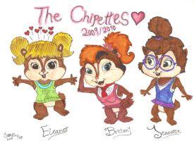 -R- The Chipettes 2009-2010 by Jamesf5