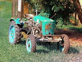 Old traditional Lindner tractor by patrickjobst
