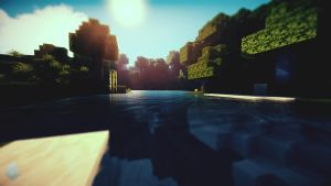 Minecraft Waterlight Wallpaper by lpzdesign