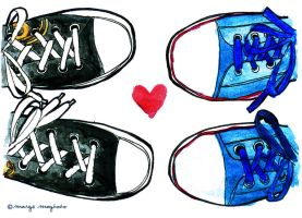 Sneakers  Love by margemagtoto