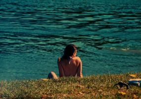 girl on the shore by foxG
