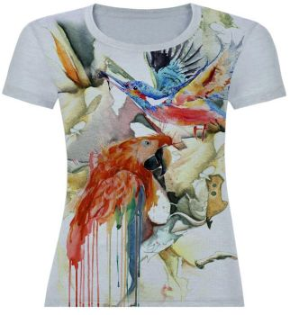 watercolor birds by bluebernini