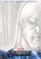 Avengers Assembled Sketchcard - Thor by theopticnerve