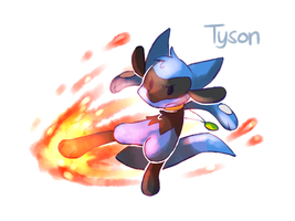 Tyson used Blaze Kick! by yassui