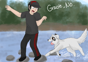 Get him, Gracie! by CascadingSerenity
