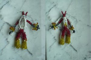 Blaziken made with beads by Master-Kankuro