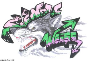SWW Graff. ft. Ghost Grey Wolf by Lorfis-Aniu