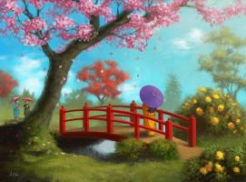 L5R - Public Flower Garden by jasonjuta