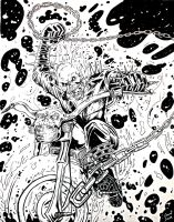 Ghost Rider Illustration by Grant-Leon-Smith