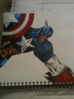 Captain America Sketchbook Drawing by JeffreeScot