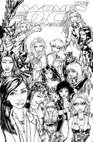 LINEART - WOMEN OF DC by tannerwiley