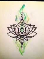 Lotus tattoo? by simisketches
