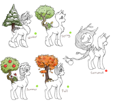 Tree Pony Examples by Kemikel