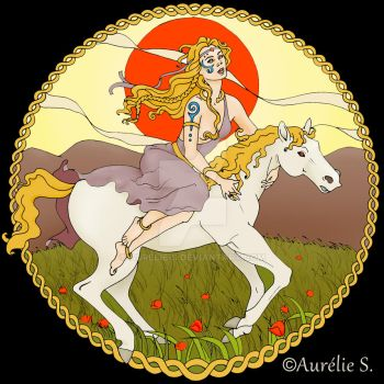 Macha - The Irish Goddess of Horses by Aurelie-S