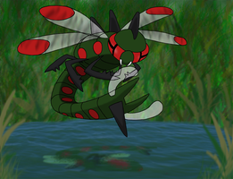 Favourite Bug-type Pokemon: Yanmega by Kumata