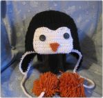 Penguin Hat by giraffesonparades