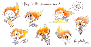 The little piranha-maid by nef
